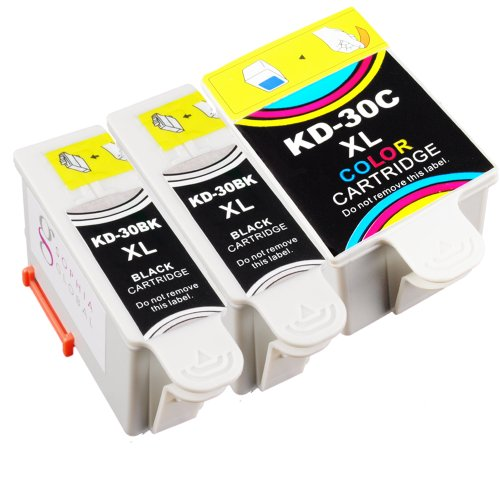 Sophia Global Compatible Ink Cartridge Replacement for Kodak 30XL (2 Black, 1 Color)