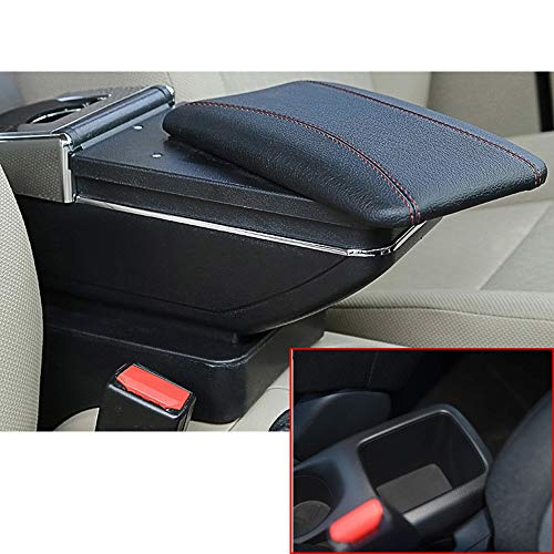 for Nissan Kicks 2017-2018 Car Armrest with Cup Holder Removable Ashtray Center Console Accessories Black