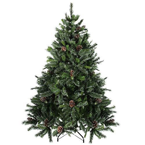 Northlight 6.5' Snowy Delta Pine with Pine Cones Artificial Christmas Tree - Unlit ()