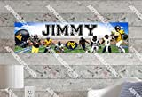 WV Mountaineers - 8.5''x30'' Personalized Name Poster, Customize Name Sign, Birthday Party Banner