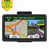 GPS Navigation for Car, 7 inches Lifetime Map Update Spoken Turn-to-Turn Navigation System for Cars, Vehicle GPS Navigator SAT NAV