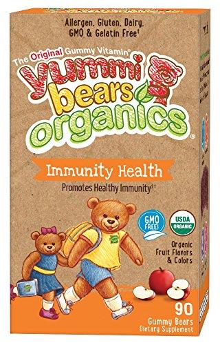 Yummi Bears Organics Immunity Health Supplement for Kids, 90 Gummy Bears