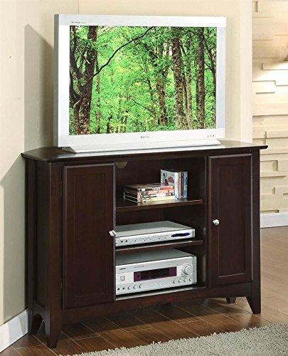 Riverside Tv Console - Riverside Furniture Metro II Corner TV Console in Ebony Brown Finish
