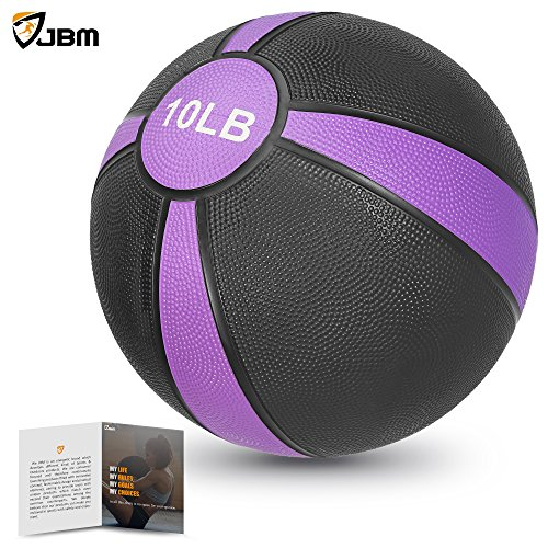 JBM Medicine Ball (2lbs 4lbs 6lbs 8lbs 10lbs 12lbs 15lbs) Slam Ball Medicine Ball Workouts / Exercise Strength Training Cardio Exercise Plyometric & Core Training ¨CSquats, Lunges, Slam Exercise