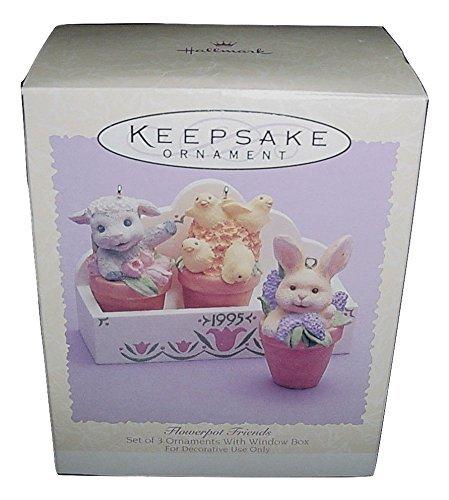 Flower Pot Friends, Set of Hallmark Easter Ornament, 1995