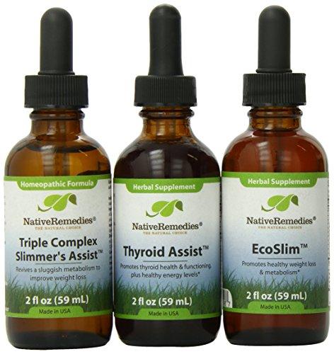 (Native Remedies ThyroidAssist, EcoSlim and Slimmers Assist 2 fl oz)