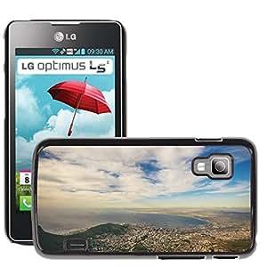 Hot Style Cell Phone PC Hard Case Cover // M00306979 View Bay Lagoon Landscape Sea Water // LG Optimus L5 II Dual E455 / E460