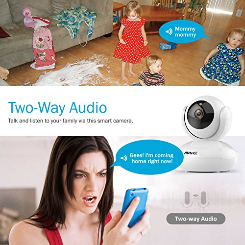 Home IP Camera, ANNKE 1080P 1920TVL HD Indoor Wireless Security Camera with Motion Detection, Pan/Tilt, Two Way Audio, Night Vision, Baby Monitor, Nanny Cam