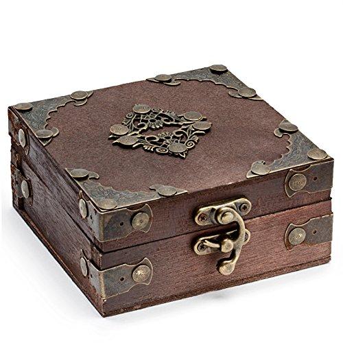 Afterlife Custom Irons Tattoo Machine Antique Wooden Storage Box (Custom Tattoo Machine)
