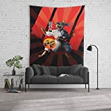 Society6 Wall Tapestry, Size Large: 88'' x 104'', Karate Kat - Master Meowgi (80s Movie Cat Parody) by thisonashirt