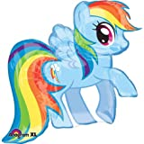 My Little Pony Rainbow Dash Shaped Character Mylar Foil Balloon- Birthday Party, Health Care Stuffs