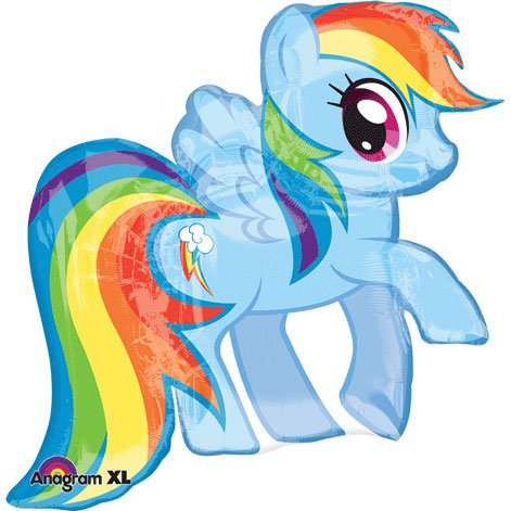 Anagram International 2646701 My Little Pony Rainbow Dash Pack, 28