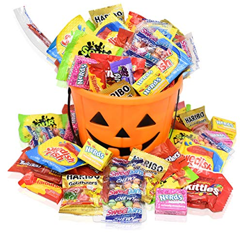 Halloween Care Package Gift Basket - Perfect for kids, girls, boys, and college students - Comes with Halloween Bucket
