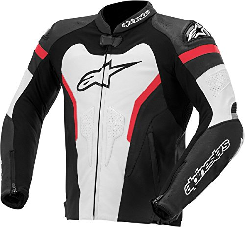 Alpinestars GP Pro Leather Men's Riding Jacket (Black/White/Red, Size 54)