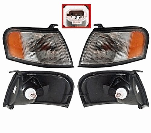Discount Starter and Alternator NI2521113 NI2520113 Nissan Sentra Replacement Headlight Pair Plastic Lens With Bulbs (95 Nissan Sentra Alternator compare prices)