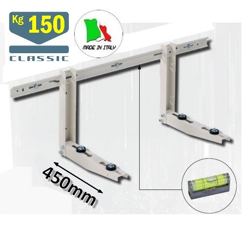 Staffa unità esterna climatizzatore CLASSIC - bracci 45 cm - portata 150 Kg - in acciaio strutturale FRATELLI GILARDI