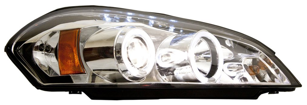 LED Driver side WITH install kit -Chrome 2009 Chevrolet TRAVERSE Post mount spotlight 6 inch