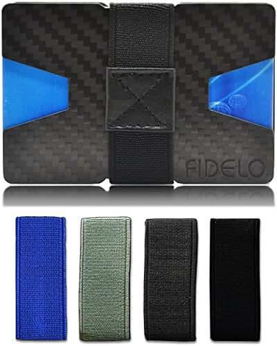 Slim Front Pocket Mens Wallet Money & Card Holder - Minimalist & Small Wallets for Men with Bills Clip Bands