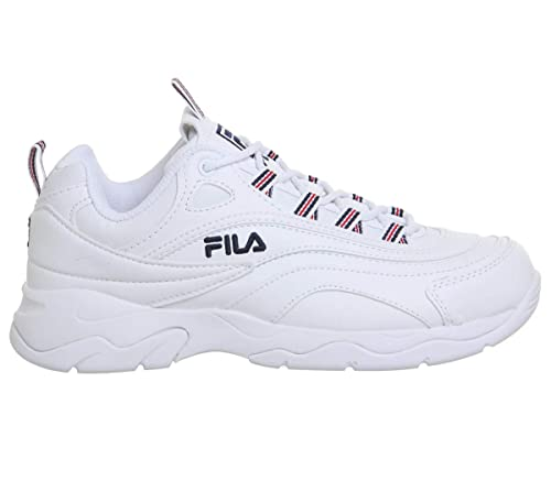 Fila RAY Mujeres Zapatillas White Navy Red - 4 UK: Amazon.es: Zapatos y complementos