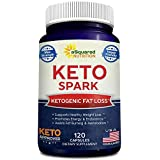 Keto Spark - Supplement for Weight Loss (120 Capsules) - Pills Approved for The Ketogenic & Paleo Diet - Helps Burn Fat, Ketosis, Increase Energy & Focus - Caffeine & Ketones for Women & Men