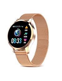 GOKOO Sports Smart Watch for Men Women with Heart Rate,Blood Pressure, Sleeping Monitor,IP67 Waterproof Activity Tracker for iOS&Android,Gold