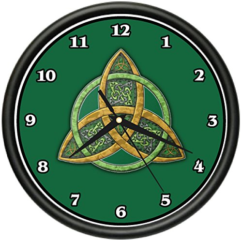 (CELTIC TRINITY KNOT Wall Clock symbol irish scottish culture tradition gift )