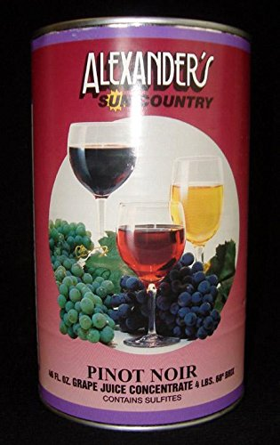 Alexanders Sun Country Wine Grape Concentrate- Pinot Noir 46 oz can