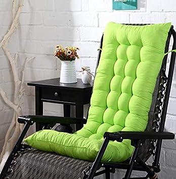 Marbeine - Colchón de cojín para Tumbona, cojín Mate para Silla de Relax, Tumbona de jardín, terraza 48 x 125 x 8 cm, Verde