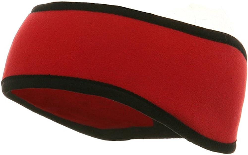 Reversible-Adjustable Fleece Headband \u2013 High Quality Unisex Sized \u2013 BaseballBlack