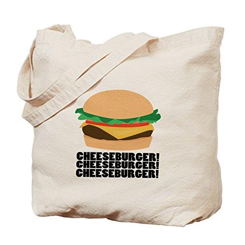 CafePress–hamburguesa con queso–Gamuza de bolsa de lona bolsa, bolsa de la compra