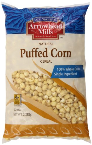 Arrowhead Mills Cereal, Puffed Corn, 6 Ounce ()