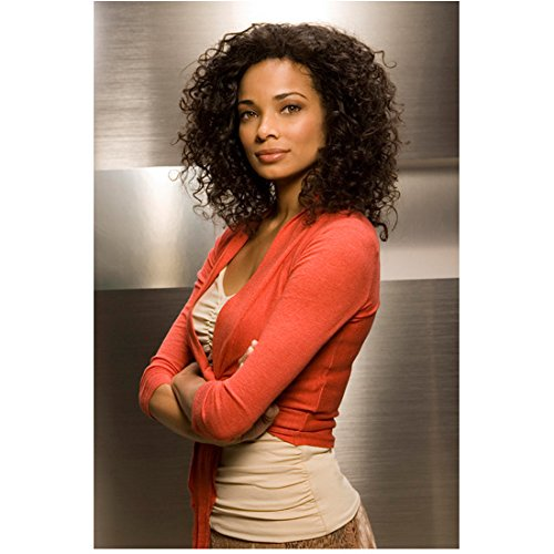 Drive (TV Series 2007 - ) 8 Inch x10 Inch Photo Rochelle Aytes Wearing Coral Shrug Over White Tank Arms Crossed kn Over Shrug
