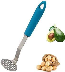 Potato Masher, 304 Stainless Steel Bean and Potato Masher