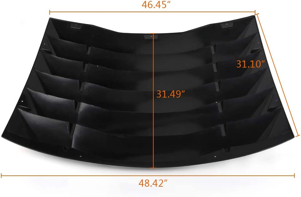 HaoTang New Window Louver Compatible for Dodge Charger 2011-2020 Matte Unpainted Black ABS Window Scoop Windshield Rear Vent Cover Protector