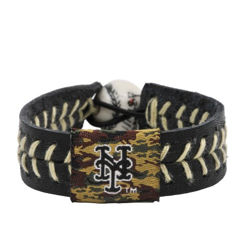 GameWear 4421400494 New York Mets Camouflage Baseball Bracelet