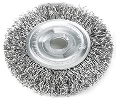 Mercer Abrasives 187010 Crimped Wire Wheel For Right Angle Grinders 4-Inch by 1/2-Inch by 5/8-Inch - 11