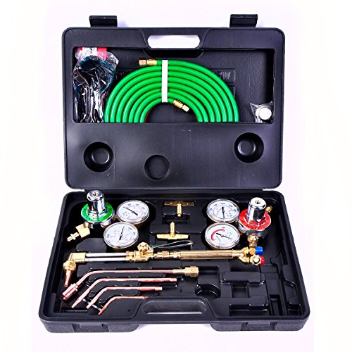 - Toolsempire Gas Welding & Cutting Kit Oxygen Torch Acetylene Welder Victor Type Tool Set