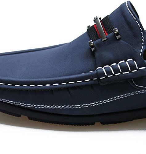 Mocassini uomo class blu scarpe casual ecopelle mans shoes