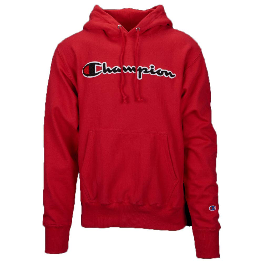 Champion LIFE Men's Reverse Weave Pullover Hoodie, Team red Scarlet, XXX-Large