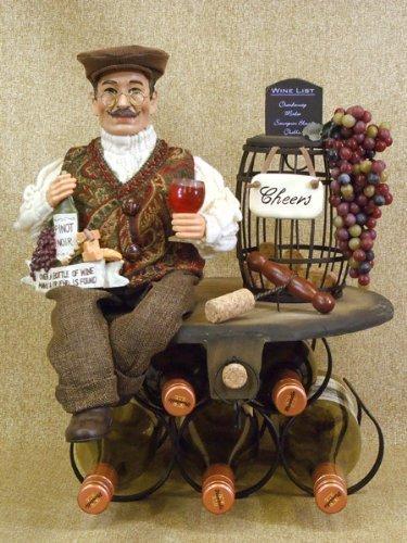 Karen Didion Wine Santa - Karen Didion 5 Bottle Wine Holder