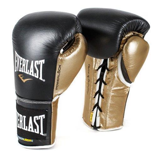 Everlast PowerLock Pro Fight Gloves 10oz blk/Gld PowerLock Pro Fight Gloves