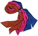 Women's Lightweight Polyester Solid Color Fashion Scarf, Set of 3 - by Marino Ave offers