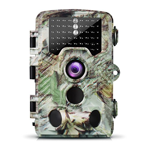 Ailink Game Camera 16MP 1080P HD Trail Camera 65ft Infrared Night Vision 120 Wide Angle 46 LEDS 0.2s Pre Speedy Trigger IP56 Waterproof with Display LCD for Wildlife Scouting Hunting