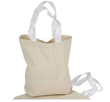 4c84b008b Image Unavailable. Image not available for. Color: 12 Art Canvas Tote Bags  Natural ...
