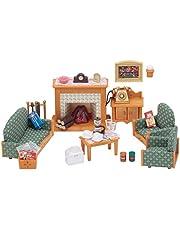 SYLVANIAN FAMILIES- Deluxe Living Room Set Mini Muñecas Y Accesorios, (Epoch para Imaginar 5037)