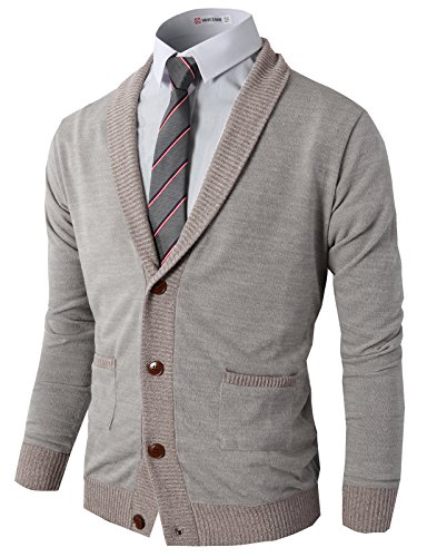 H2H Knitted Cardigan Sweaters Ribbing
