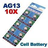 10 x AG13 LR44 G13-A D303 L1154 L1154F Alkaline Button Cell Battery