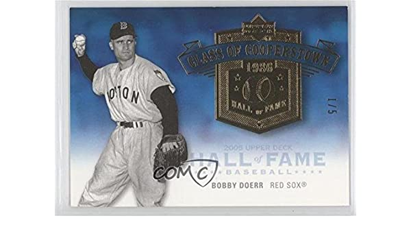Amazoncom Bobby Doerr 15 Baseball Card 2005 Upper Deck Hall Of