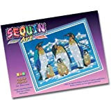 Sequin Art and Beads Penguins