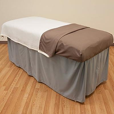 Microfiber Massage Table Skirt - Mirage Grey from Body Linen- Parent